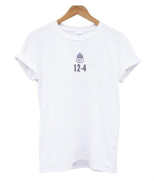 12-4 White T-Shirt