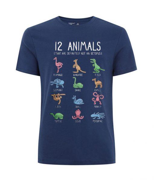 12 ANIMALS T SHIRT