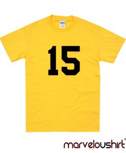 15 Number Yellow T-shirt