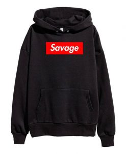 21 Savage Red Box Logo Hoodie