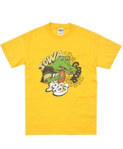 80s Iowa Hawkeyes Gator Bowl 1983 t-shirt
