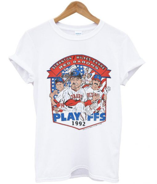 90s Scranton Wilkes Barre Red Barons MILB Playoffs t-shirt