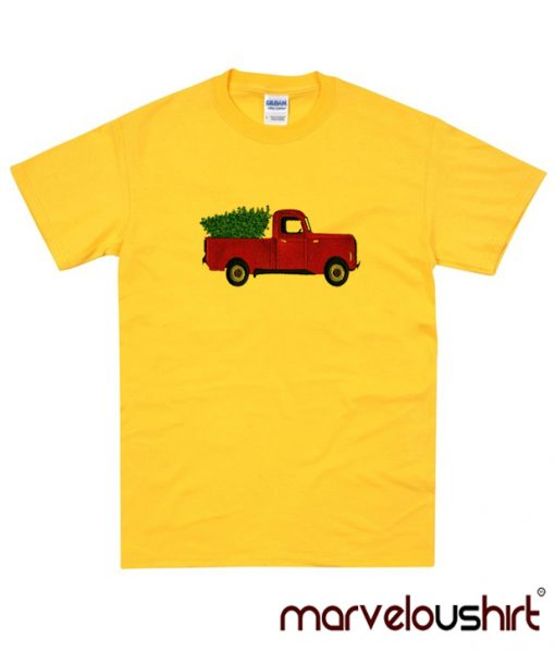Red Truck in Yellow TShirt