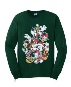 Vintage Mickey Mouse And Friends Green Sweatshirt