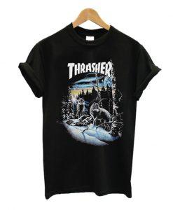 thrasher 13 wolves t-shirt