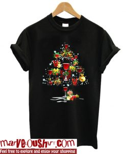 Wine glass Christmas T Shirt