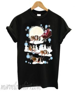 Santa riding Guinea Pig Christmas T-shirt