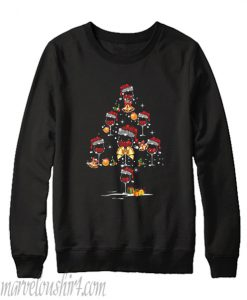 Wine glass christmas tree Sweatshirt