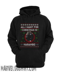 All I want for Christmas Harambe Unisex adult comfort Hoodie