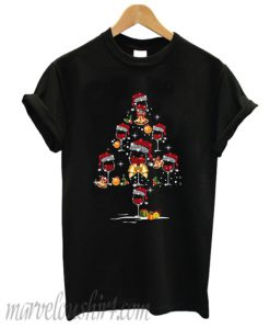 Wine glass christmas tree T-shirt
