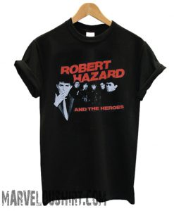 1980's ROBERT HAZZARD & The Heroes vintage concert tour rare original new-wave rock band comfort t-shirt