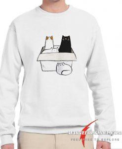 4 Cats in a Box comfort Sweatshirt