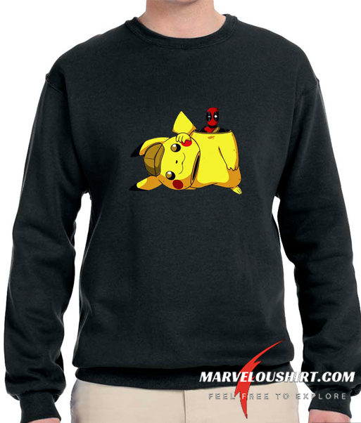 Pokemon and Deadpool comfort Sweatshirt