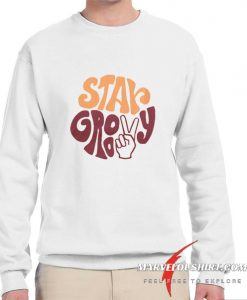 Stay Groovy Peace Sign comfort Sweatshirt