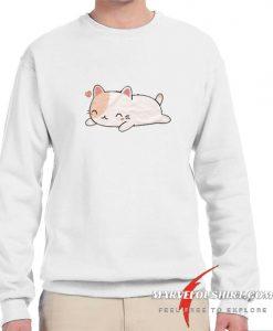 Super Lazy Kawaii Cat blue comfort Sweatshirt