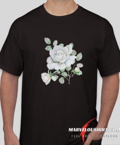 White Roses Watercolor Flowers comfort T Shirt