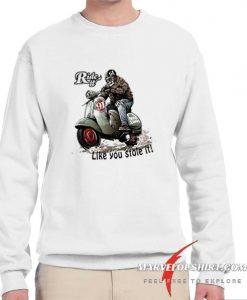 Vespa T-shirt Ride it like you stole it comfort Sweatshirt