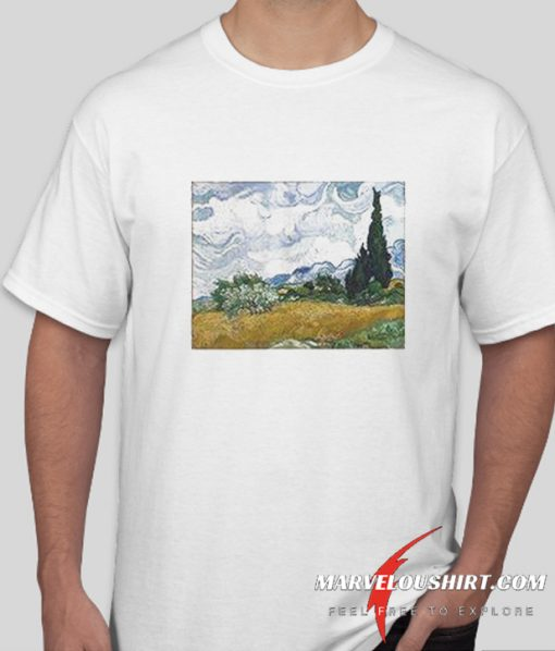Vincent van Gogh Wheat Field with Cypresses comfort T Shirt