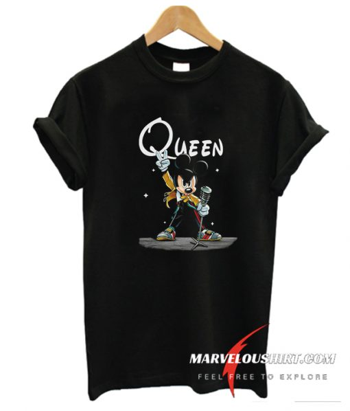Mickey Mouse As Freddie Mercury Funny T-Shirt