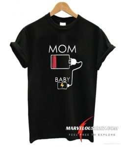 Mom low battery pregnant T shirt.