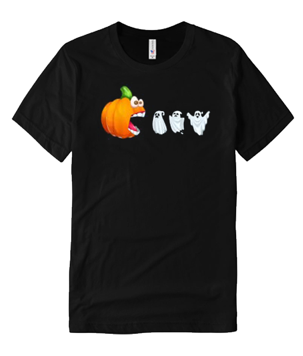 Funny Pumpkin Eating Ghosts For Halloween T Shirt